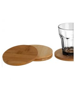 Coaster set 4 Bamboo