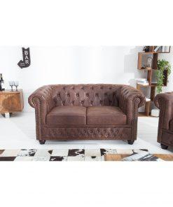 Canapea Chesterfield 2 locuri vintage