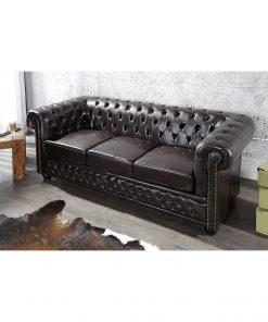 Canapea Chesterfield 3 locuri neagra