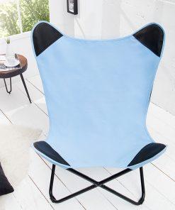 Scaun Butterfly material albastru_1