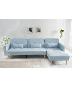 Canapea Nordic cu sezlong dreapta/stanga blue