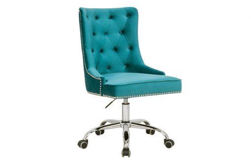 Scaun birou Victorian turquoise_1