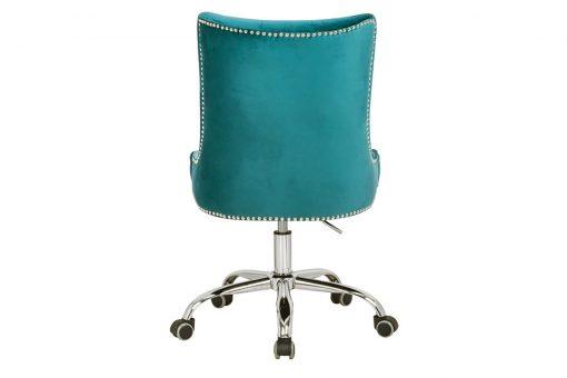Scaun birou Victorian turquoise_3