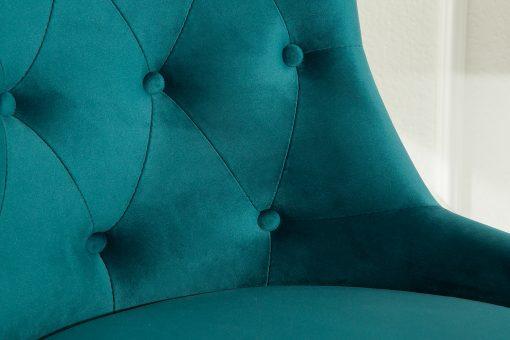 Scaun birou Victorian turquoise_4