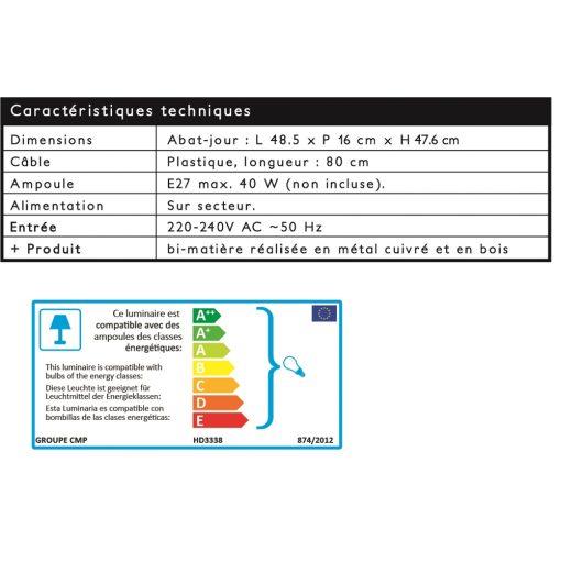 Lampa CMP Cuivre C1_5