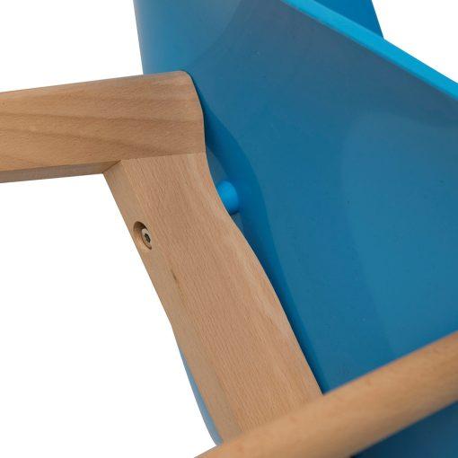 Scaun CMP Glossy albastru_2