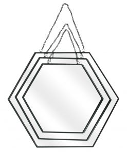 Set 3 oglinzi CMP Hexagonal Black_4