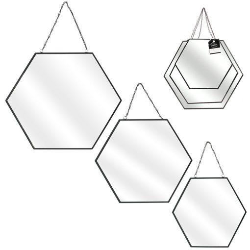Set 3 oglinzi CMP Hexagonal Black_6