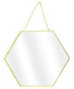 Set 3 oglinzi CMP Hexagonal Gold_1