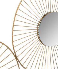 Decoratiune de perete cu oglinda JJA Brook gold