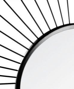 Decoratiune de perete cu oglinda JJA Fence negru