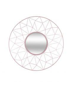 Decoratiune de perete cu oglinda JJA Harold roz