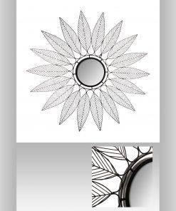 Decoratiune de perete cu oglinda JJA Niky N1