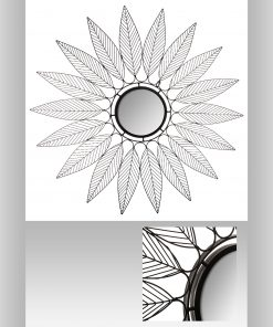 Decoratiune de perete cu oglinda JJA Niky N2