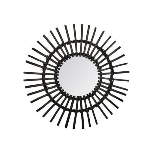 Decoratiune de perete cu oglinda JJA Ratmi negru