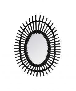 Decoratiune de perete cu oglinda JJA Rattan negru