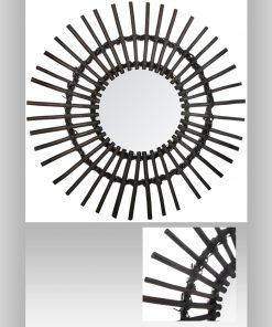 Decoratiune de perete cu oglinda JJA Sunra negru