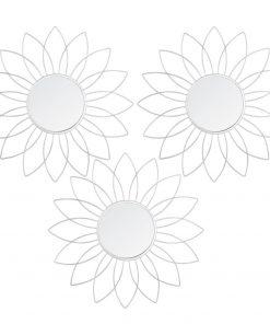 Set 3 decoratiuni de perete cu oglinda JJA Metse M1
