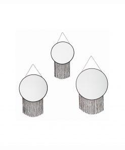Set 3 decoratiuni de perete cu oglinda JJA Trudy