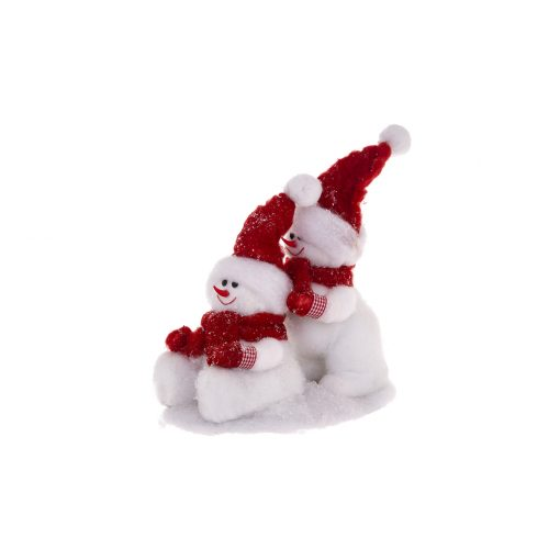 Decoratiune Craciun JJA Snowmen on Ice 30cm