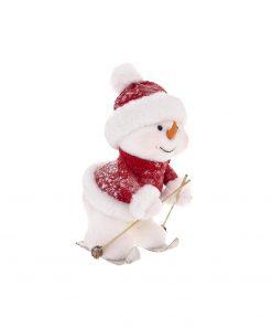 Decoratiune de Craciun JJA Snowman Ski M1