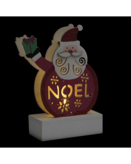 Decoratiune luminoasa Craciun JJA Pere Noel 13cm