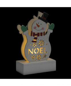 Decoratiune luminoasa Craciun JJA Snowman 13cm