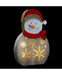 Decoratiune luminoasa Craciun JJA Snowman 30cm