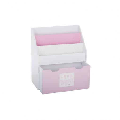 Suport carti JJA Drawer roz