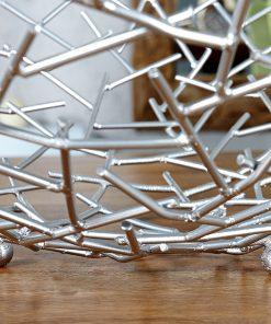 Bol deco/fructe Invicta Structure silver