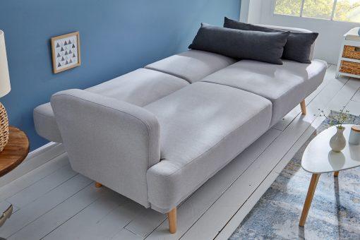 Canapea extensibila Invicta Studio gri