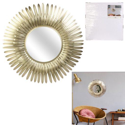 Decoratiune perete cu oglinada CMP Golden