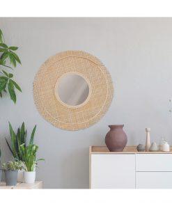 Decoratiune perete cu oglinada CMP Wicker