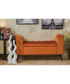Bancheta cu lada AD Trend Zaya orange