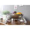 Bol deco/fructe Invicta Skull 35cm silver