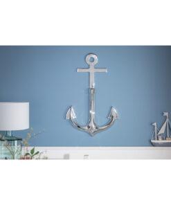 Decoratiune perete Anchor silver 90cm