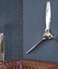 Decoratiune perete Screw 60cm silver