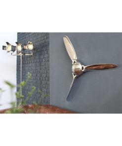 Decoratiune perete Screw 90cm silver