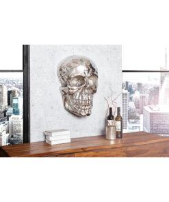 Decoratiune perete Skull silver