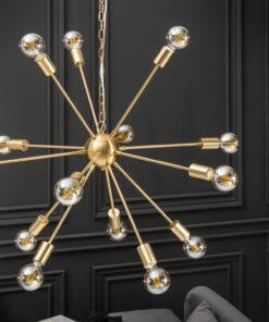 Lustra Invicta Sputnik 85cm gold
