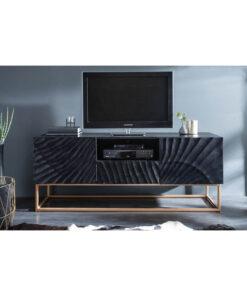 Comoda TV Invicta Scorpion 160cm neagra