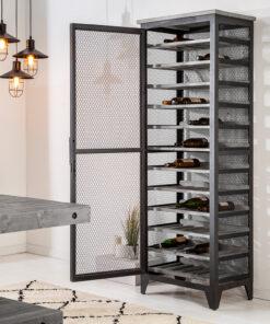 Etajera vin Invicta Bodega gri 184cm