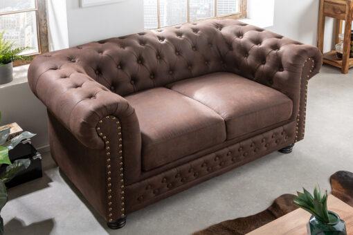 Canapea 2 locuri Invicta Chesterfield II vintage braun