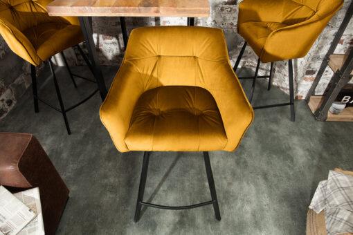 Scaun bar Invicta Abisko mustard