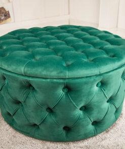 Taburet Invicta Skosa emerald green